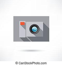 camera in a flat design icon