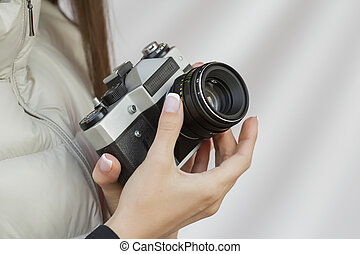 Camera in the hands
