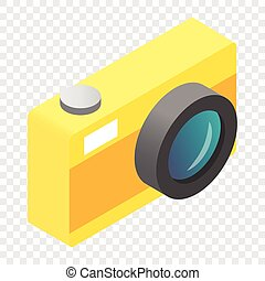 Camera isometric 3d icon