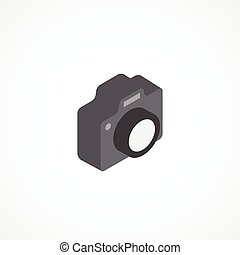 Camera isometric icon 3d vector illustration