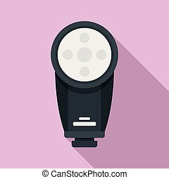 Camera led flash icon, flat style