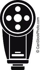 Camera led flash icon, simple style