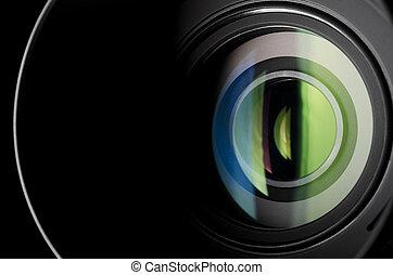 Camera lens - Close-up photo of camera zoom lens