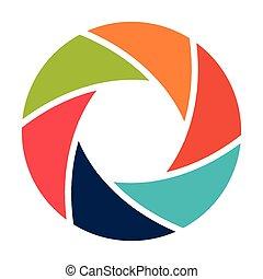 camera lens design, vector illustration eps10 graphic