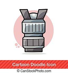 camera lens doodle