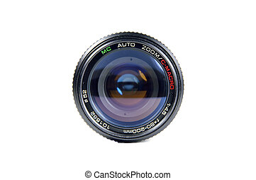 Camera Lens - Front view of a lens.