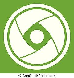 Camera lens icon green