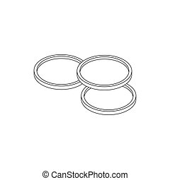 Camera lens icon, isometric 3d style