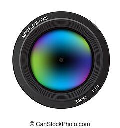 Camera lens - Illustration of a colorful dslr camera lens,...