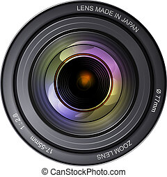 Camera Lens - Illustration of a camera lens. EPS10 format....