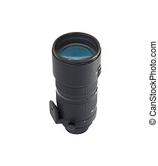 camera lens isolated on a white
