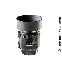 camera lens isolated on white