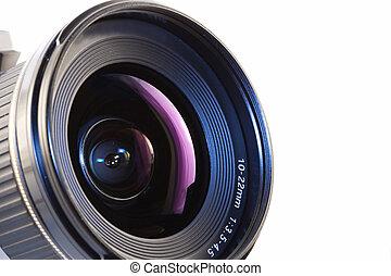 camera lens - A close-up of a camera lens