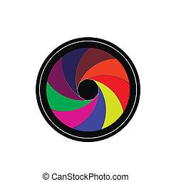Camera lens shutter