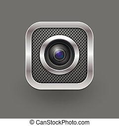 Camera lens. Vector illustration. Eps 10