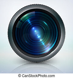 Camera lens vector illustration on white background in eps 10