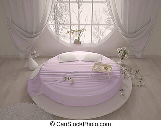 Soffitto letto lussuoso sospeso camera letto rotondo - Letto circolare ...