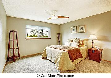 camera letto, interno, in, morbido, avorio, toni
