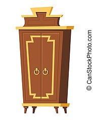 camera letto, interno, mobilia, guardaroba, stanza, cartone animato