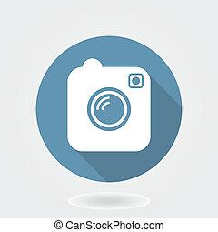 Camera Like Instagram Icon With Flat Design - Camera like ...