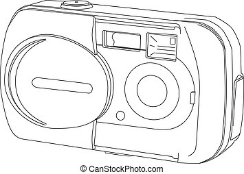 Camera Line Drawing