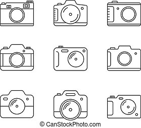 Camera Line Icons