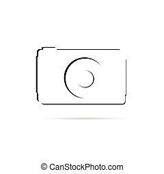 camera line vector illustration