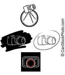 Camera logos on white