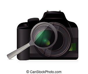 camera magnify illustration design