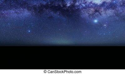 Camera movement in the dark starry sky