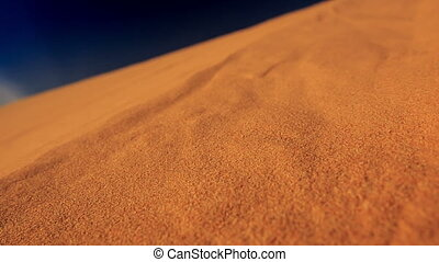 Camera Moves along Quicksand in White Sand Dunes - closeup...