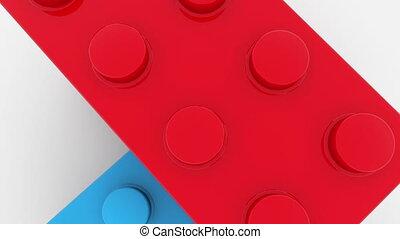 Camera moving on toy bricks
