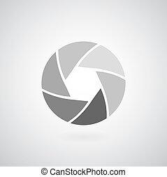 camera objective icon