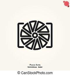 Camera objective vector icon