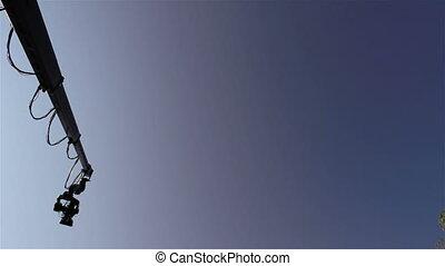 Camera on a crane outdoor