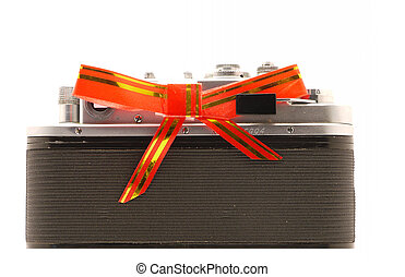 Camera on a white background