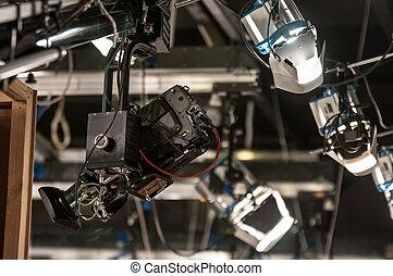 Camera on crane