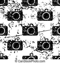Camera pattern grunge, monochrome