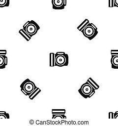 Camera pattern seamless black