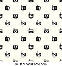 Camera pattern vector seamless