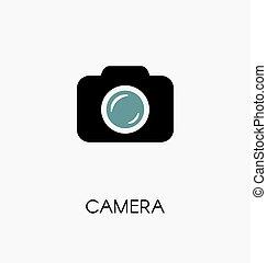 Camera / photocamera icon simple flat vector illustration