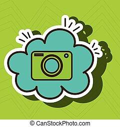 camera photographic cloud icon