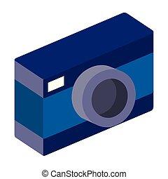 camera photographic isometric icon