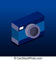 camera photographic isometric icon