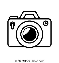 camera photography photo technology digital device silhouette vector illustration