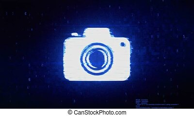Camera Photography Symbol Digital Pixel Noise Error Animation.