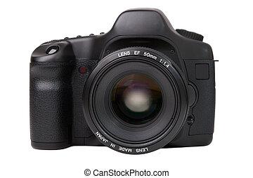 camera - Black digital camera isolated on white
