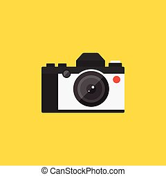 Camera retro vintage style icon flat design vector illustration
