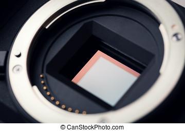camera sensor closeup