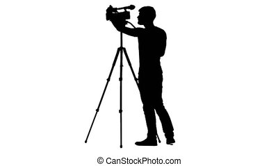 Camera settings for shooting on tripod. Silhouette, white...